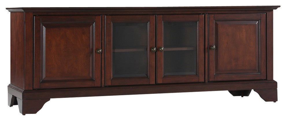 "LaFayette 60"" Low Profile TV Stand, Vintage Mahogany Finish - Pot Racks Plus"