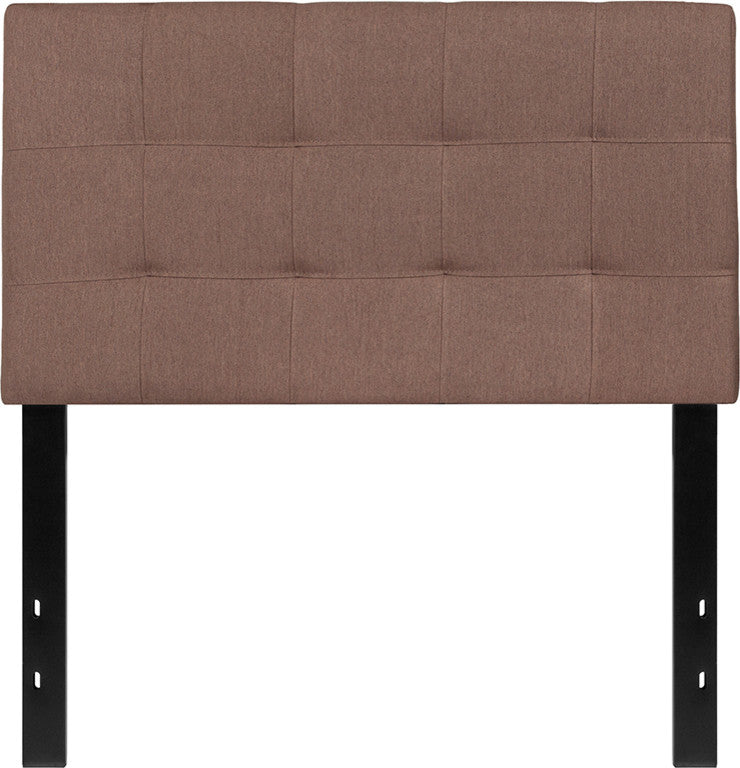Bedford Tufted Upholstered Twin Size Headboard in Camel Fabric