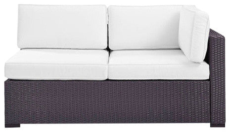 Biscayne Loveseat With Arm, White - Pot Racks Plus