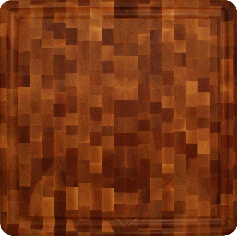 Slab End Grain Cutting Board With Juice Groove - Pot Racks Plus