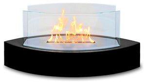Lexington Tabletop Ethanol Fireplace, Black - Pot Racks Plus