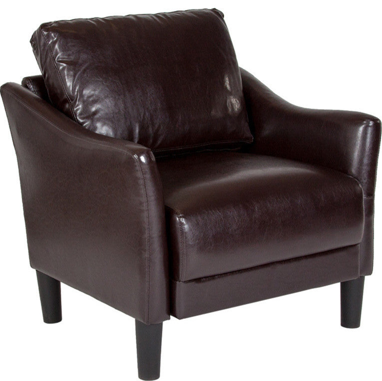 Asti Upholstered Chair in Brown LeatherSoft