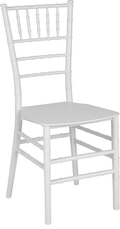 HERCULES Series White Resin Stacking Chiavari Chair