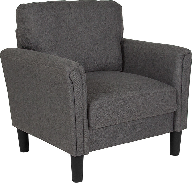 Bari Upholstered Chair in Dark Gray Fabric