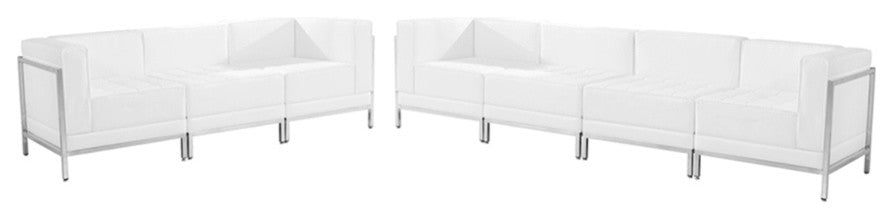 HERCULES Imagination Series Melrose White LeatherSoft Sofa Set, 5 Pieces