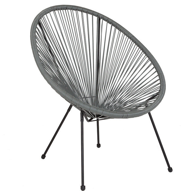 Valencia Oval Comfort Series Take Ten Grey Rattan Lounge Chair