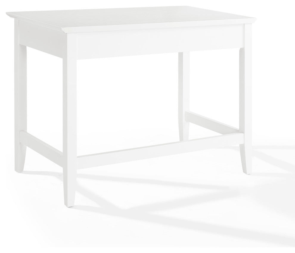 Campbell Writing Desk In White Finish - Pot Racks Plus