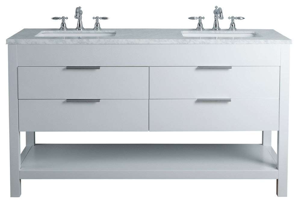 "Seine 36"" Gray Single Sink Bathroom Vanity - Pot Racks Plus"