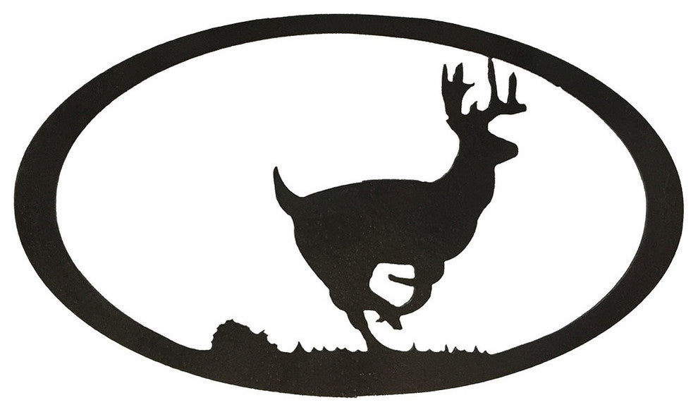 Running Deer Oval-Hammered Black - Pot Racks Plus