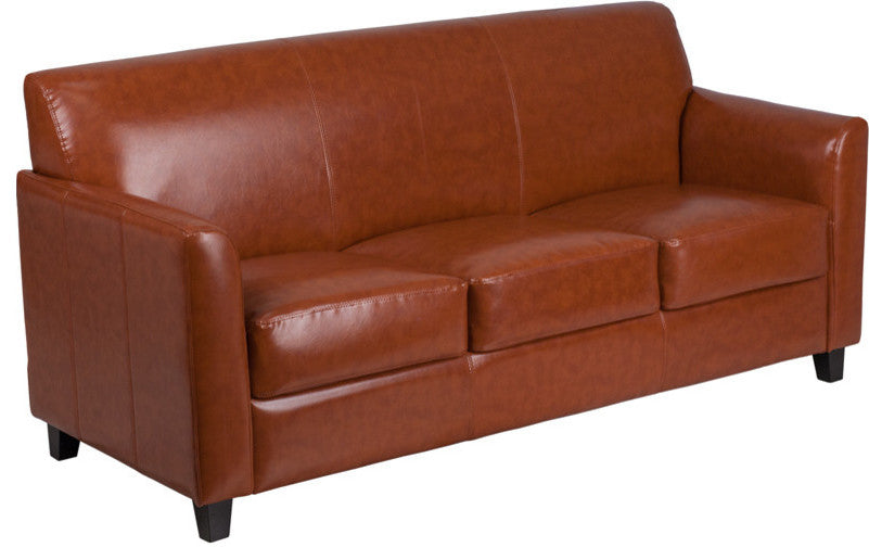 HERCULES Diplomat Series Cognac LeatherSoft Sofa