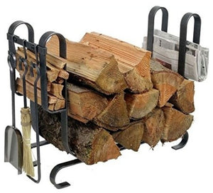 Modern Log Rack With Tools - Pot Racks Plus