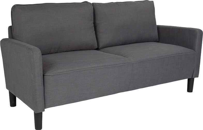 Washington Park Upholstered Sofa in Dark Gray Fabric