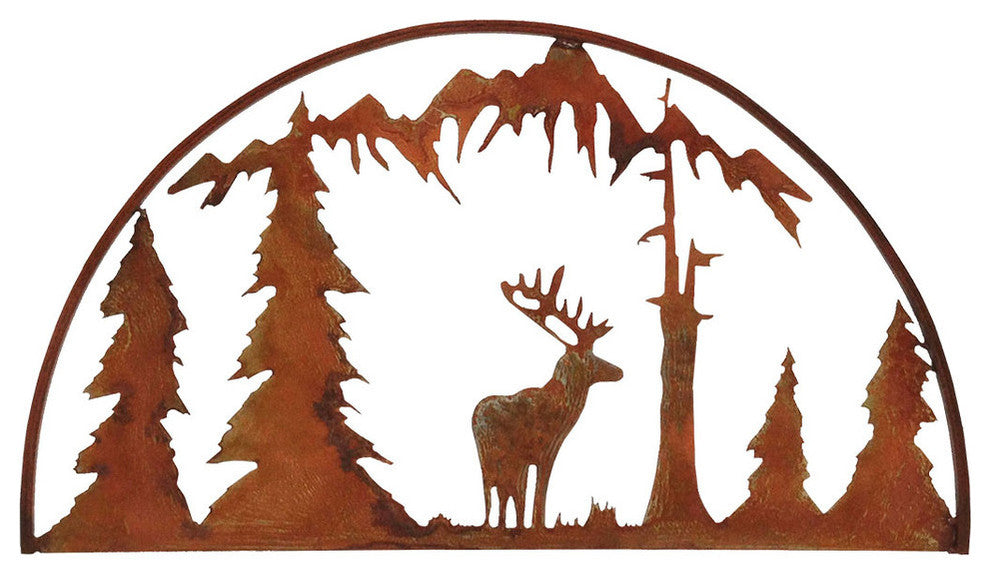Elk Hoop-Rust Patina - Pot Racks Plus