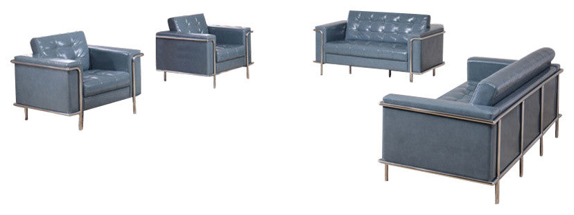 HERCULES Lesley Series Reception Set in Gray LeatherSoft