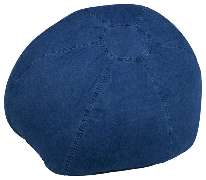 Flash Furniture   Small Denim Bean Bag Chair for Kids and Teens - Pot Racks Plus