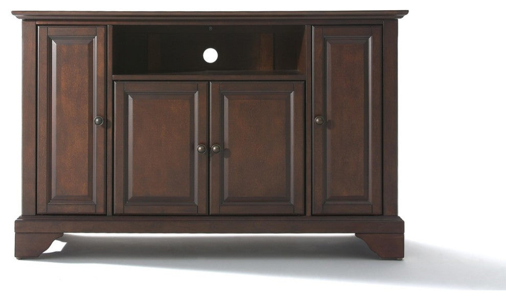 "LaFayette 48"" TV Stand, Vintage Mahogany Finish - Pot Racks Plus"