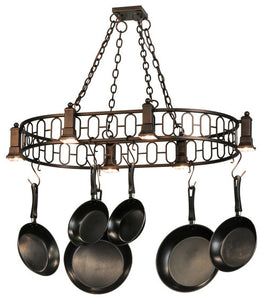 "42.5""L Revival Deco Oblong Pot Rack - Pot Racks Plus"