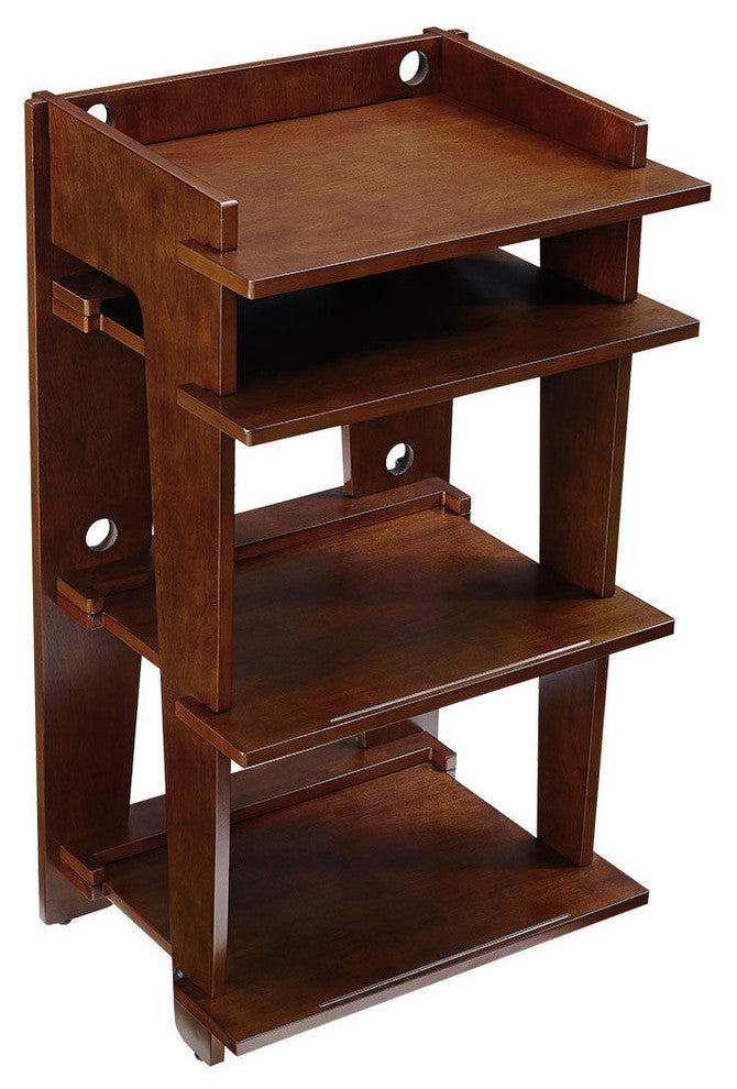 Soho Turntable Stand, Mahogany - Pot Racks Plus
