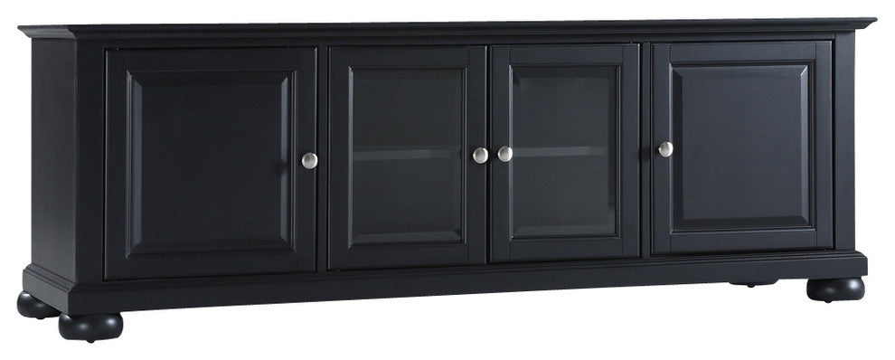 "Alexandria 60"" Low Profile TV Stand, Black Finish - Pot Racks Plus"