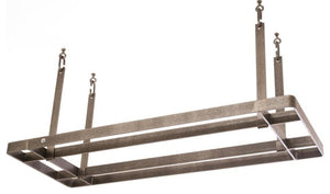 All Bars Rack - Hammered Steel - Pot Racks Plus