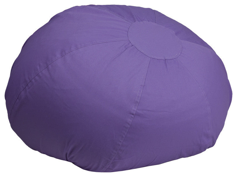 Flash Furniture   Oversized Solid Purple Bean Bag Chair for Kids and Adults - Pot Racks Plus