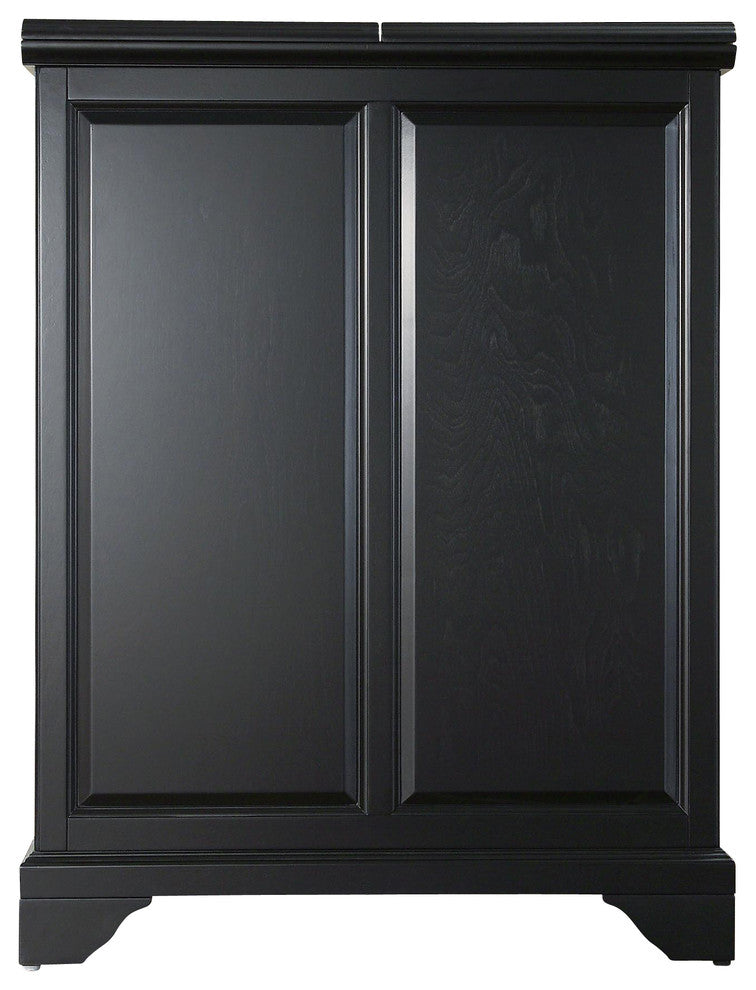 LaFayette Expandable Bar Cabinet, Black Finish - Pot Racks Plus