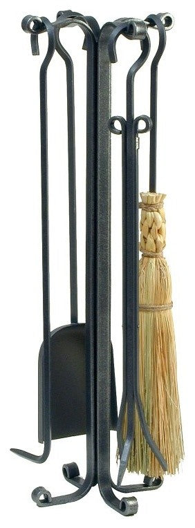 Rolled Eye 4-Piece Tool Set Hammered Steel - Pot Racks Plus