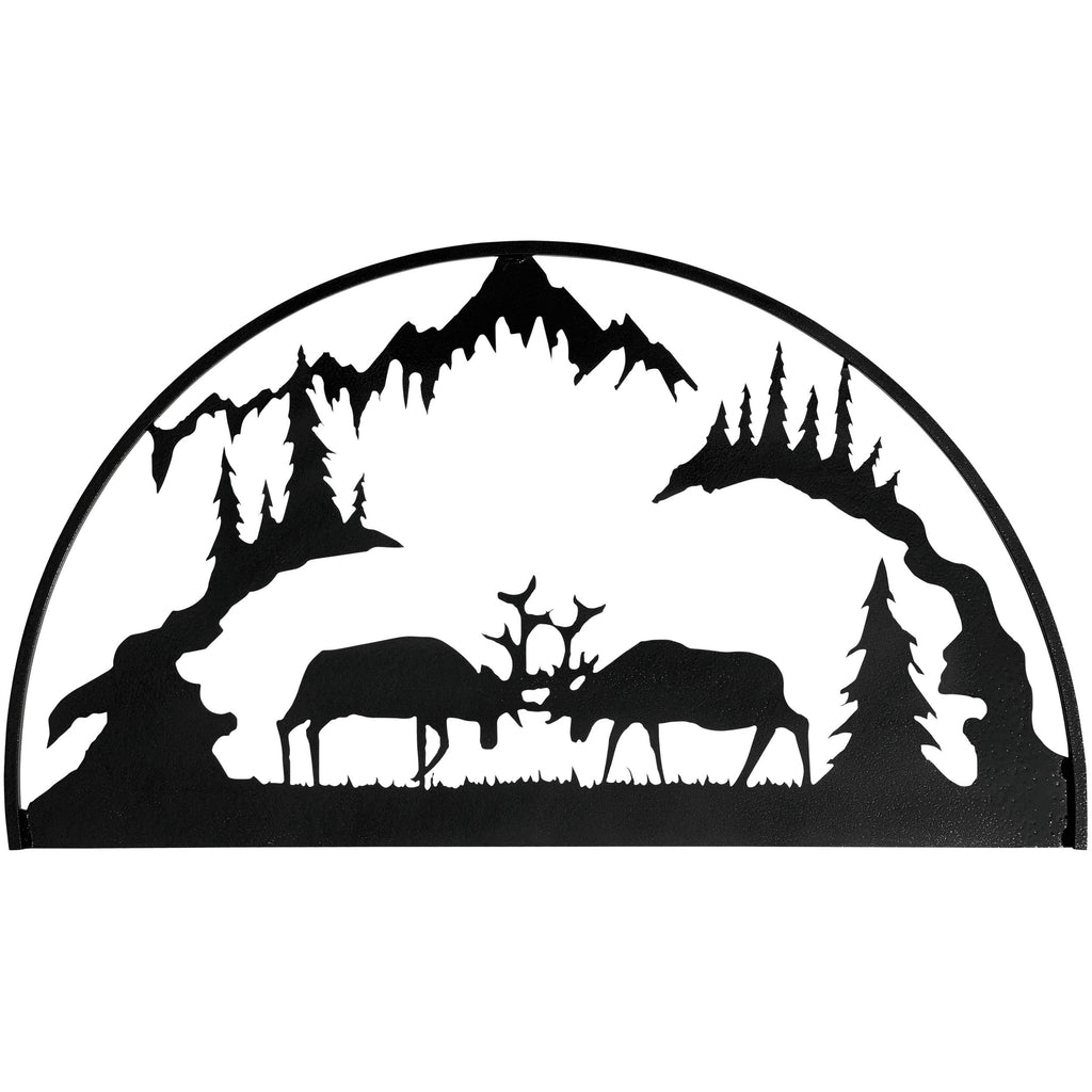 Fighting Elk Hoop-Hammered Black - Pot Racks Plus