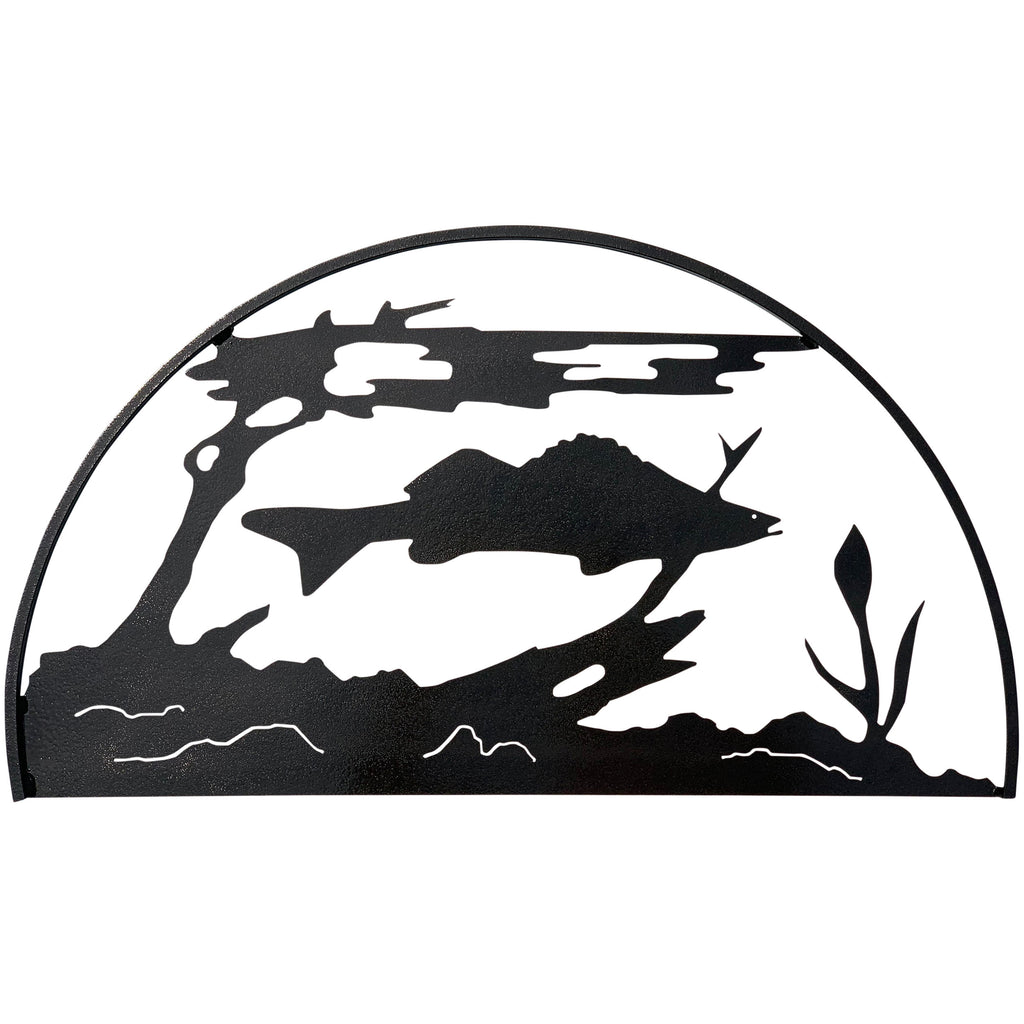 Fish Hoop, Hammered Black - Pot Racks Plus
