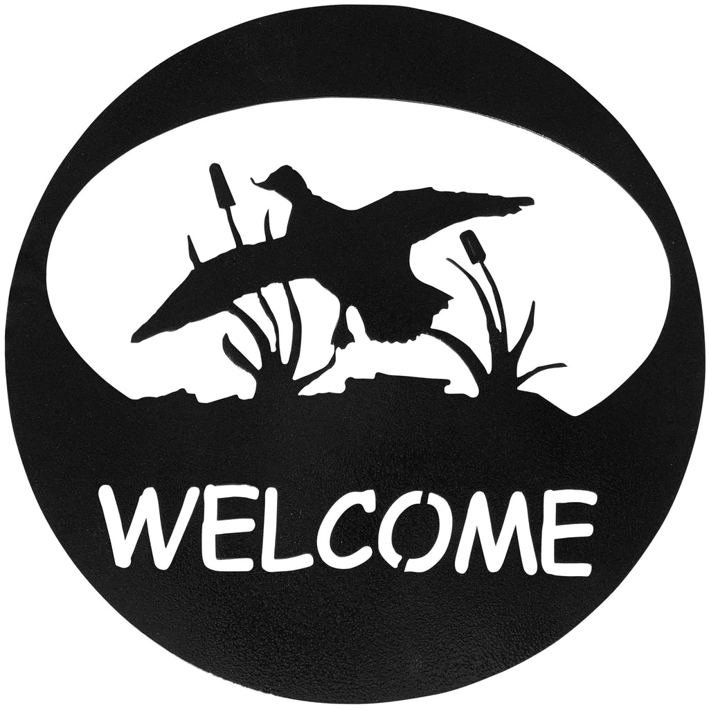 Duck Welcome Circle-Hammered Black - Pot Racks Plus