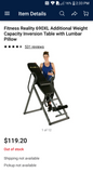 Fitness Reality XL inversion table 300lb capacity