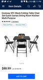 Folding table and chair set 5pc