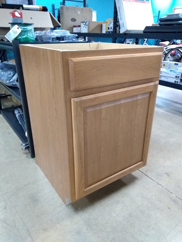 Cabinet base with drawer has damage