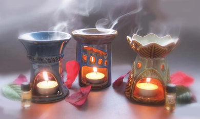 Porcelain Oil Burner - Assorted 4