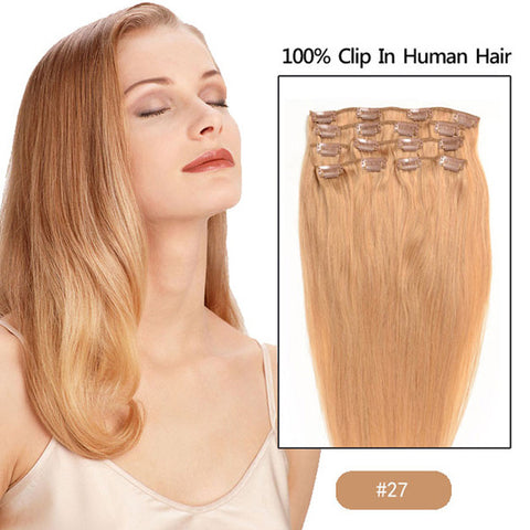 Clip ins 100g 8piecesset virgin remy human hair clip in human clip ins 100g 8piecesset virgin remy human hair clip in human hair extensions full pmusecretfo Image collections