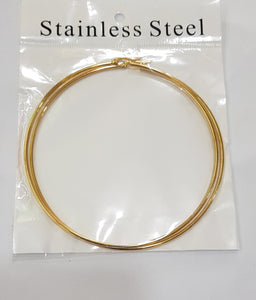 Gold Big Round Hoop Earrings