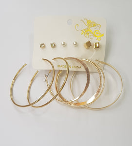 Hoop earrings with studs