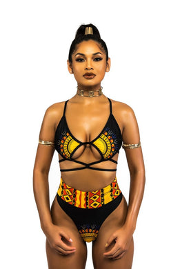 African Print Two-Pieces Bikini Set