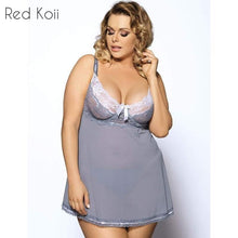 Sexy Lingerie Gray Color Babydoll Plus Size