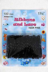 Hair Pins Black with Tips 100ct