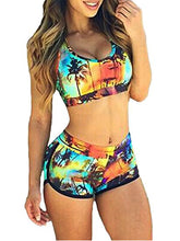 Sporty Swimsuit Sets Push-Up Padded Sport Bra