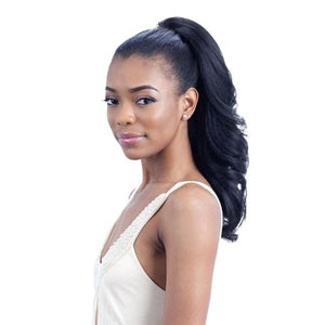 Freetress Equal Drawstring Synthetic Ponytail FEATHER GIRL (1B)