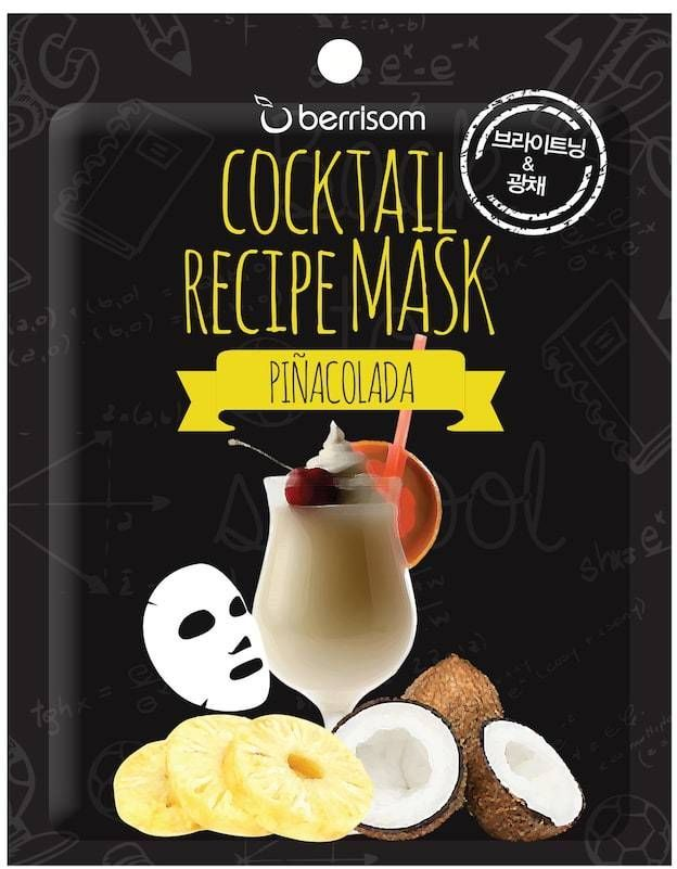Cocktail Recipe Mask - Pina Colada
