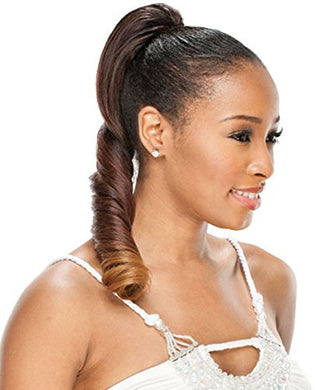 Equal Drawstring Ponytail Synthetic Hair Pigtail Girl DE27
