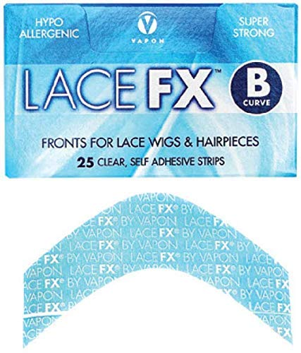 Lace Fx Tape  Curve Double Sided Super Adhesive Clear Strips for Front Lace Wigs