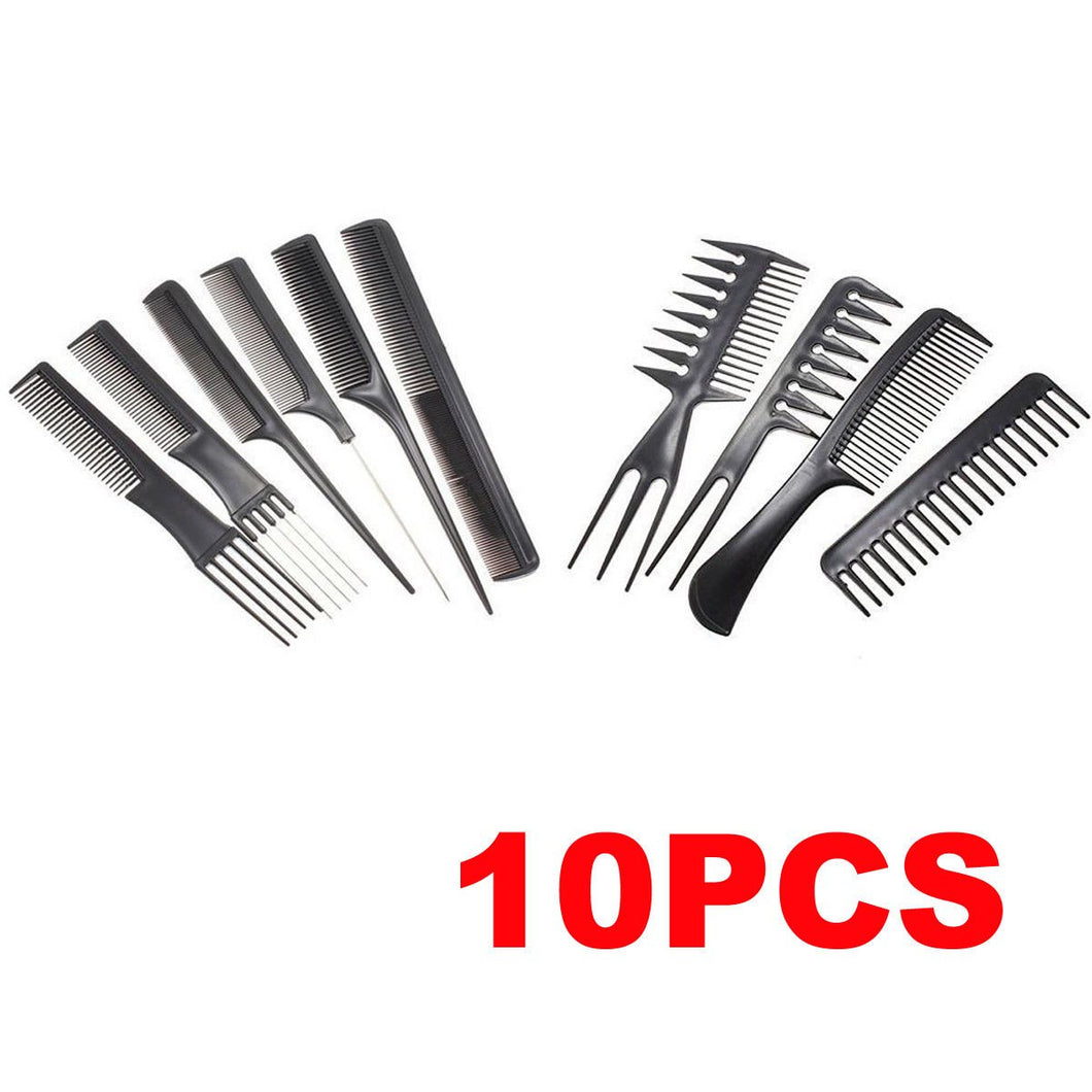 10pcs Professional Styling Hair  Comb Kit