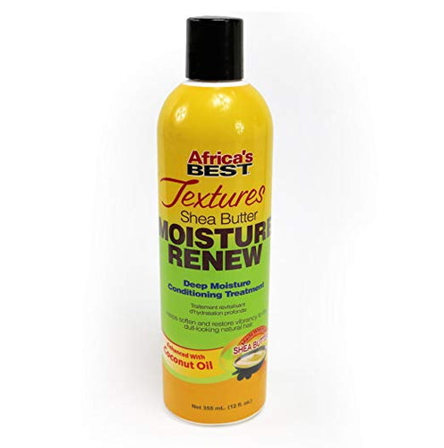 Africa's Best Textures Moisture Renew, Wash Out Hydrating Hair Treatment, Great for All Hair Types, 12 Ounce