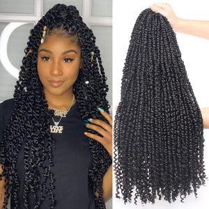 Pre twisted Passion Twist Crotchet Hair. 22inch, 15strands per pack