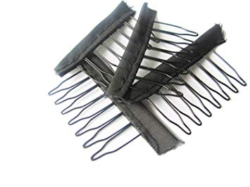 Comb Wig Clips with Rubber Back