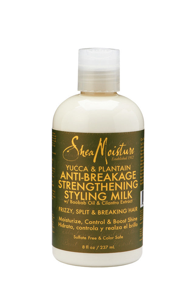 Shea Moisture Yucca & Plantain ANTI-BREAKAGE STRENGTHENING STYLING MILK